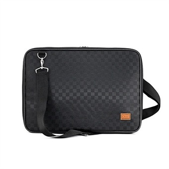 노트북가방 14.1인치 사각체크 블랙 심플형