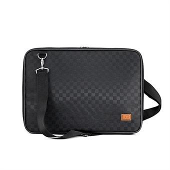 노트북가방 13.3인치 사각체크 블랙 심플형
