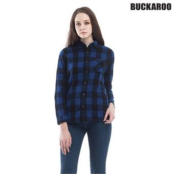 유니 선기모 깅엄체크 셔츠(B174SH010P)