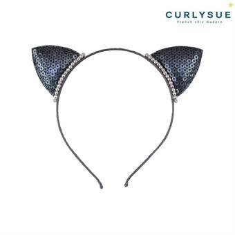 [컬리수] 고양이귀 헤어밴드 CNS1AAHB04BK [봄]