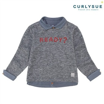 [컬리수] 셔츠 레이어드티셔츠(카라탈부착) CNS1GQTS55GR [봄]
