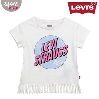 [리바이스키즈] 프린지 티셔츠(반팔)L VNM11ATS71 (키즈)