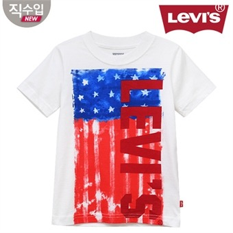 [리바이스키즈] 아메리칸플래그 티셔츠(반팔)B VNM13QTS88 (주니어)