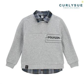 [컬리수]  폴리곤 셔츠맨투맨 CNW0GQTS581M [겨울]