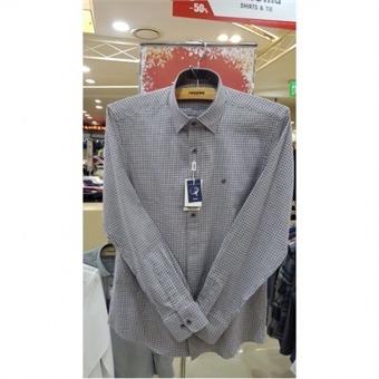 [레노마셔츠] W몰 트윌 기모 체크 배색 RGFSLP153