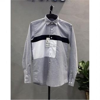 [STCO] 디엠스 W몰 그레이 논아이롱 블럭 패턴 셔츠 DDSPA40CMG