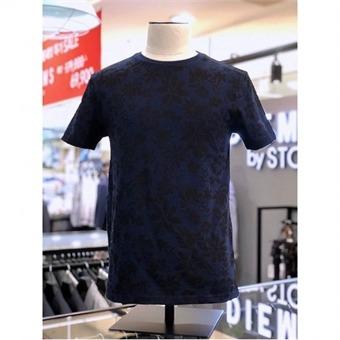 [STCO]디엠스 W몰 네이비 보태닉 프린트 라운드 티셔츠 DTSOB23