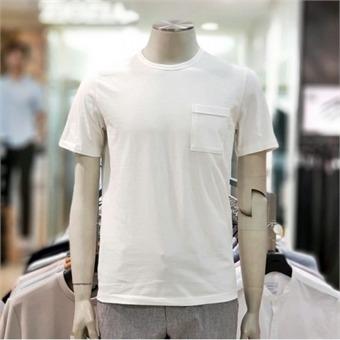 [지오지아] W몰 포켓 기본 라운드넥 반팔 티셔츠 ABY2TR1103 WT