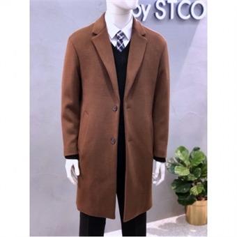 [STCO]디엠스 W몰 브라운울혼방 이중직오버핏싱글코트 SSCTPD03OSB