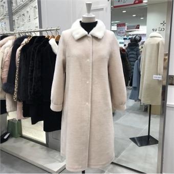 [샤틴] W몰 밍크 양모 코트 S184C724