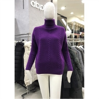 [ab.plus] W몰 꽈배기 터틀넥 스웨터 LSS4ZW38L