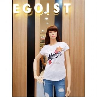 [에고이스트] W몰 네크 슬릿 포인트 티셔츠 EK2CH970