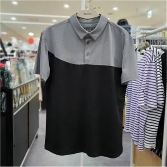[에드윈] W몰 남성용 Dry&Cool 절개 배색 카라 반팔 티셔츠/ HTE589