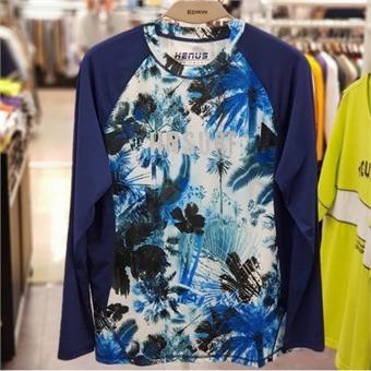 [에드윈] W몰 남성용 몸판 전판 프린팅 래쉬가드 티셔츠/HTE548