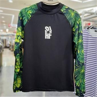 [에드윈] W몰 남성용 소매 전판 프린트 래쉬가드 티셔츠/HTE549