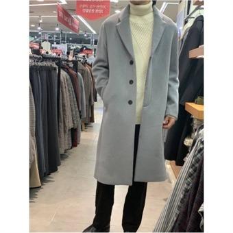 [애드혹] W몰 겨울시즌 누드 단추 모직 싱글롱코트 HUAHCF3ef