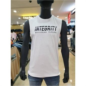 [잠뱅이] W몰 남성 기본 레터링 민소매 티셔츠 AJ2WTS02