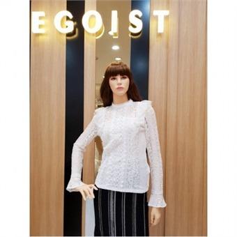 [에고이스트] W몰 레이스 러플 티셔츠 EK3WB366