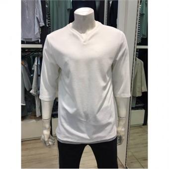 [HUM] W몰 남성 V넥 레이어드 7부티셔츠 fhnmctv129