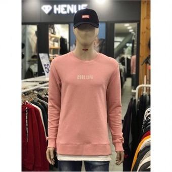 [에드윈] W몰 로고자수 밑단 레이어드 맨투맨 티셔츠 HTD180 - S