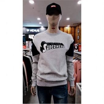 [에드윈] W몰 슈퍼 히어로 로고 자수 맨투맨 티셔츠 HTCD87 - W