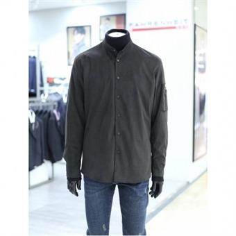 [지이크F] W몰 카키 벨벳 사이드 지퍼 셔츠 FWBAX5456