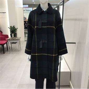[레니본] W몰 산타빅 체크 코트 RHW7830