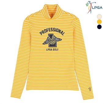 여G)잔스트라이프 터틀넥 티셔츠(L163TS553P)