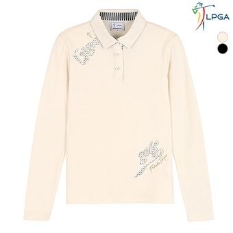여G 아플리케자수 포인트 제에리 티셔츠 (L174TS651P)