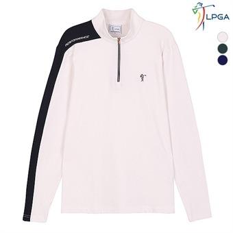 남 컬러레이션 하이넥 티셔츠 (L174TS931P)