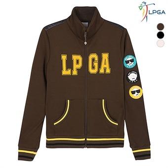 여G 앞가슴 LPGA 등판 패딩 풀집업 티셔츠(L164TJ521P)