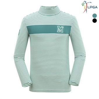 남P 스트라이프 터틀넥 티셔츠(L164TS153P)