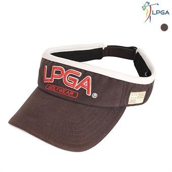 남 LPGA 로고 골드 볼륨자수 피치 트윌 선바이저(L175AP401P)