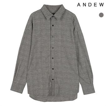 남성)오버)기본카라 글렌체크 셔츠(O183SH420P)