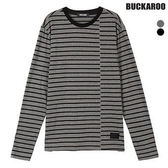 남성 20수 스트라이프 R넥 티셔츠(B183TS410P)