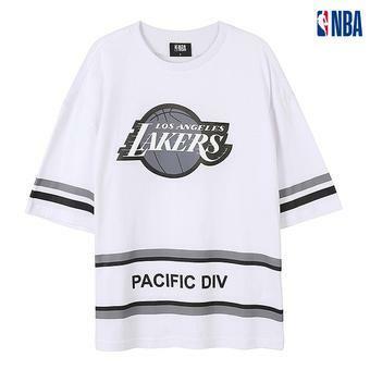 유니 NBA팀로고 핀프린트 티셔츠(N182TS119P)