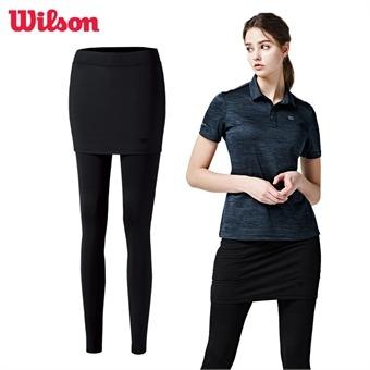 윌슨 스포츠 레깅스 4356 블랙 치마레깅스 운동복
