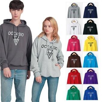 오카시오 로고 후드티셔츠 16컬러 면100% 긴팔티셔츠