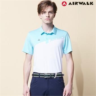 에어워크 남성 카라넥 반팔티셔츠 9017 화이트 단체복