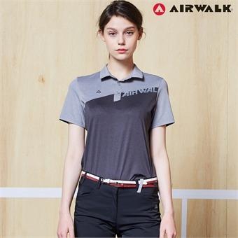 에어워크 여성 카라넥 반팔티셔츠 9012 블랙 단체복