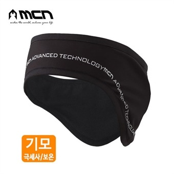 MCN 기모귀마개 블랙 겨울귀마개 기모이어커버