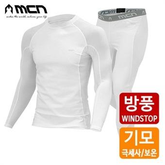 MCN 방풍기모 이너웨어세트 화이트015 겨울이너웨어
