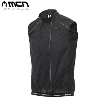 MCN 경량 자전거조끼 블랙 바람막이 윈드베스트