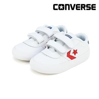 [컨버스키즈] POINT STAR 2V OX WHITE ENAMEL RED NAVY 763770C (토들러)