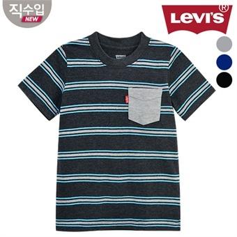 [리바이스키즈] 포켓스트라이프 티셔츠B VOM13QTS71 (주니어)
