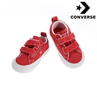 [컨버스키즈] ONE STAR 2V OX RED/WHITE/BLACK 756133C (베이비)