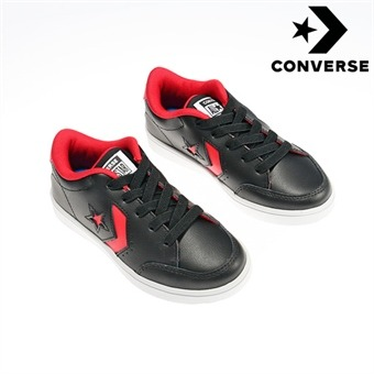[컨버스키즈] CONVERSE STAR COURT OX BLACK/ENAMEL RED 366484C (키즈)