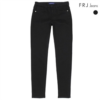 여성 블랙 RAW 슬림 스키니팬츠 (F95F-DP971M)
