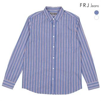 남성  오버핏 코튼 옥스포드 선염 세로ST셔츠 (F91M-SH051A)