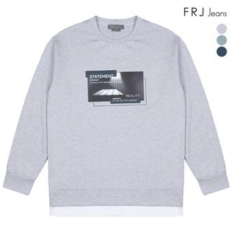 남성 분또 전사레이어드 티셔츠 (F91M-TS081A)